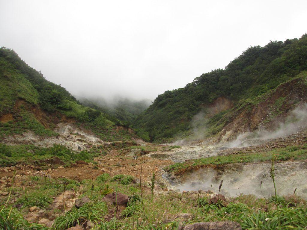 Dominica, camino de Boiling lake
