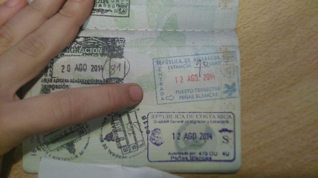 Sello fronterizo de Nicaragua