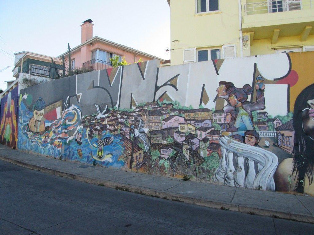 graffitis en Valparaíso