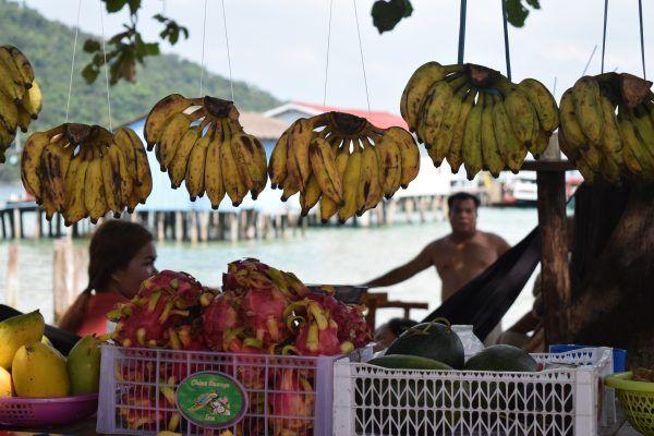 Puesto de fruta tropical