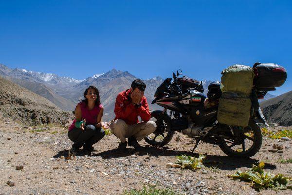 Haciendo el tonto en el Pamir