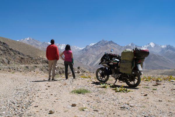Vistas de la carretera del Pamir