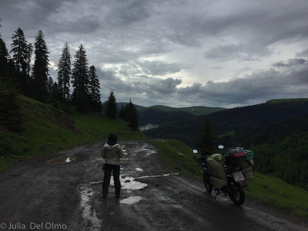 Viajar en una moto 125 cc