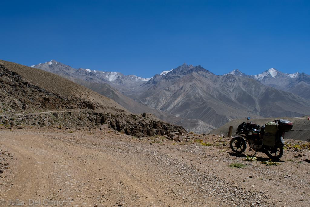 Gran viaje en una moto 125