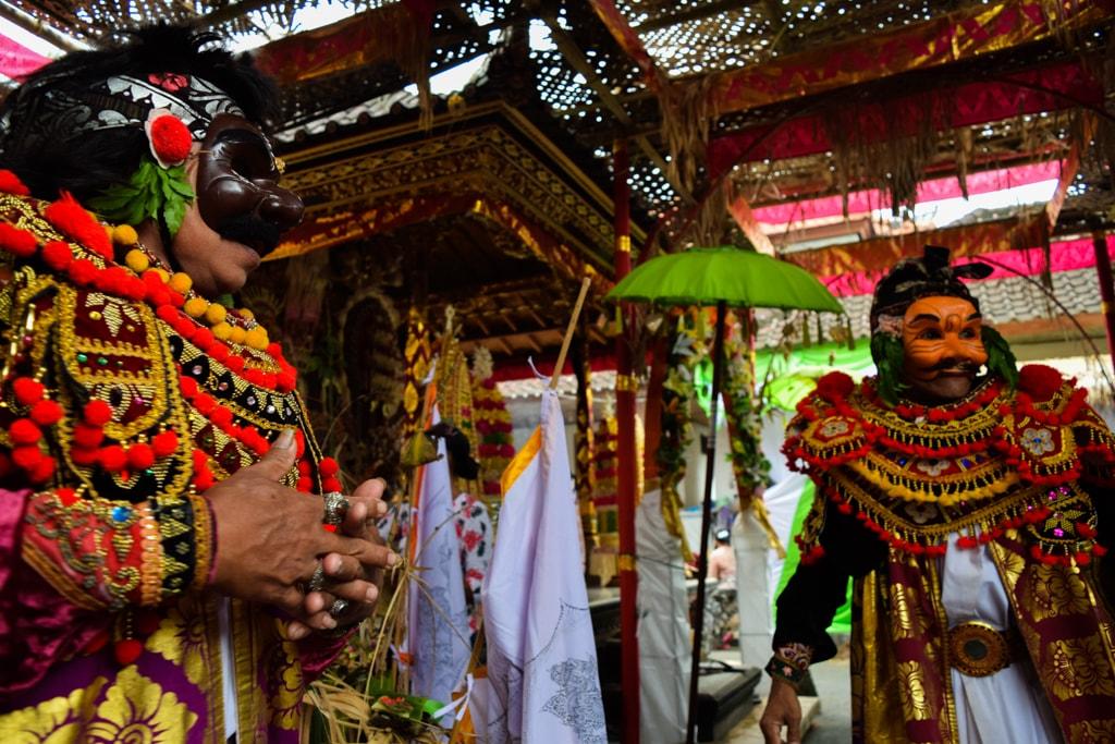 mascarás en Bali