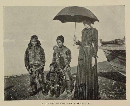 Josephine Diebitch Peary en el ártico